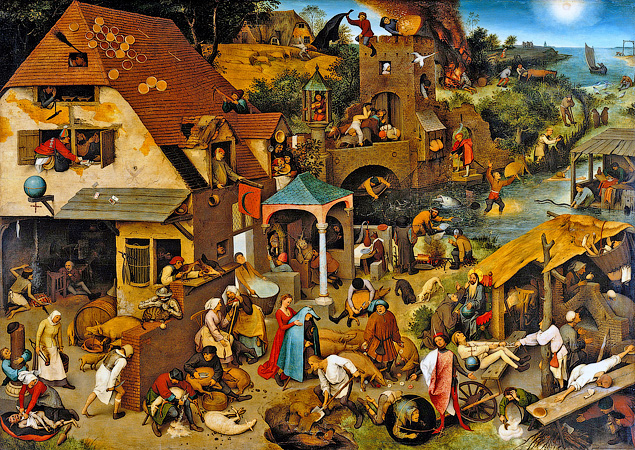 Питер Брейгель Старший. «Фламандские пословицы». 1559 год - Тайные коды известных картин