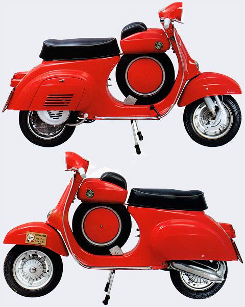 Vespa 90 Super Sprint - История итальянских мотороллеров Vespa