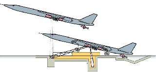 Точечный старт   самолет снаряд