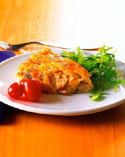Рисовый пирог с курятиной