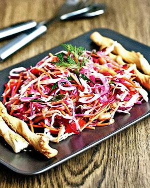 Овощной салат со свеклой - Время очищения организма