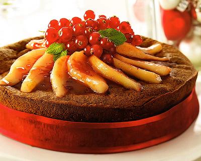 Грушевый пирог с вином