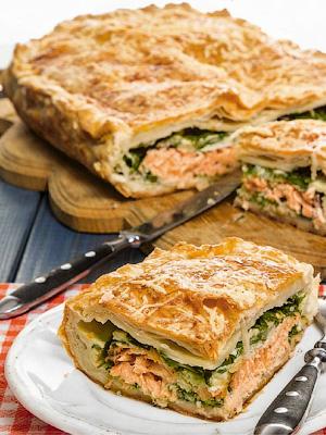 Пирог с рыбой - Быстрые блюда без особых затей