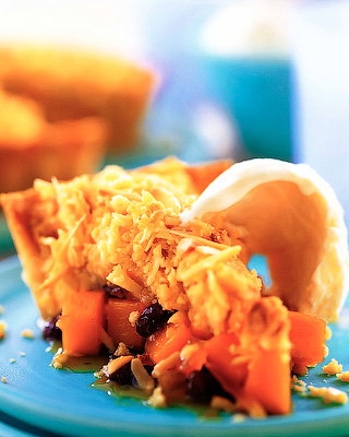 Тыквенный пирог с изюмом