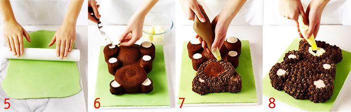 Украшение торта - Торт «Мишка»