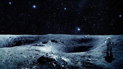 Один из снимков NASA: американский астронавт на поверхности Луны - Инопланетяне живут на Луне