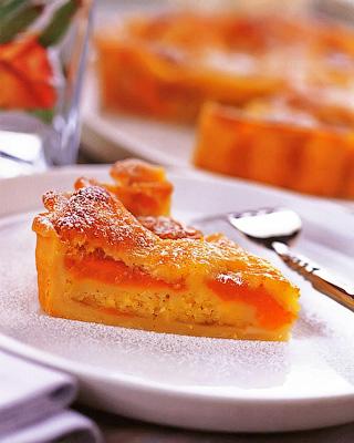 Абрикосовый пирог с лаймом