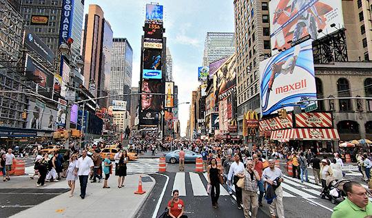 Таймс сквер центральная часть Манхэттена в Нью Йорке