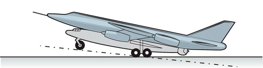 «Летающее шасси» - Точечный старт - самолет-снаряд