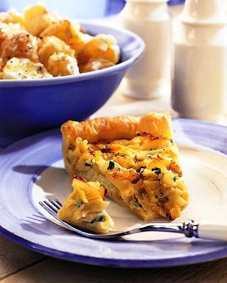 Пирог с луком и петрушкой
