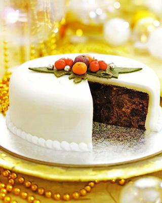 Рождественский фруктовый пирог