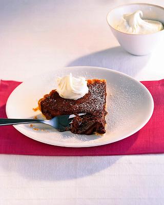 Шоколадный тарт с коньяком