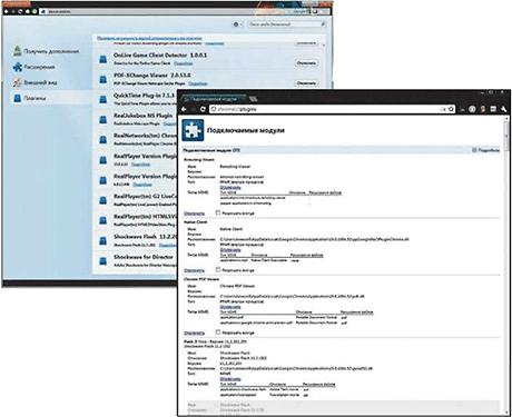 Навести порядок в многочисленных нужных и ненужных плагинах можно на служебных страницах браузеров Firefox и Chrome - Форум Сириус - Торез