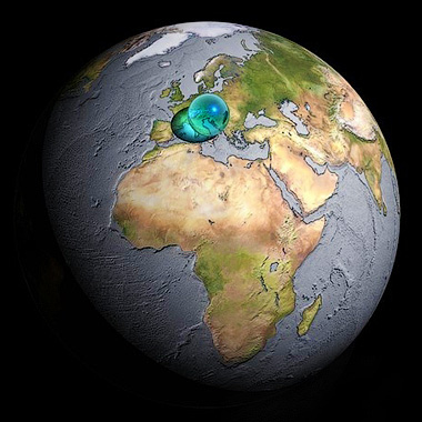 Если собрать всю пресную воду нашей планеты, то она займет примерно такой объем - Дайте воды! Глобальные проекты - Форум Сириус - Торез