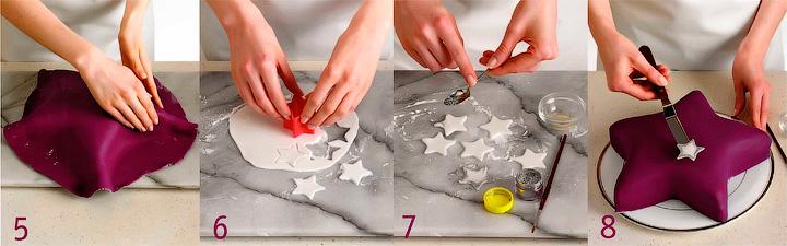 Украшение торта «Звездный взрыв»