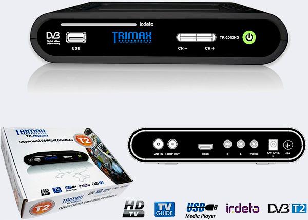 Цифровой эфирный DVB T2 ресиверTrimax TR 2012HD