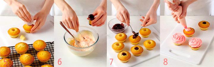 Начинка и украшение капкейков - Лимонные капкейки