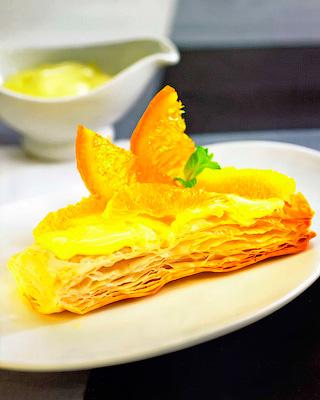 Апельсиновый баскский пирог