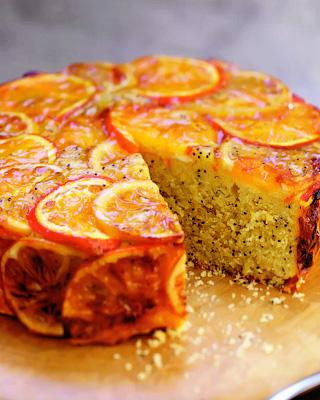 Маковый кекс с апельсинами