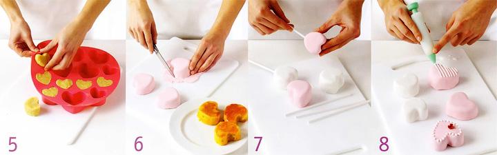 Украшение пирожных и сердечек на палочках - Праздничные сердечки