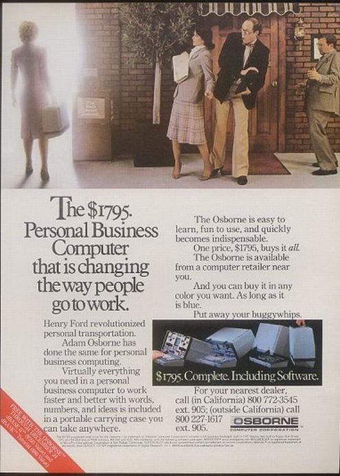 Osborne-1 старая реклама компьютеров - Форум Сириус - Торез