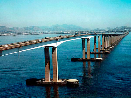 Мост Рио-Нитерой через залив Гуанараба в Бразилии - Как остановить колебания мостов - Форум Сириус - Торез