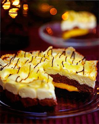 Шоколадный торт с блинчиками