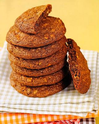 Шоколадное печенье с фундуком