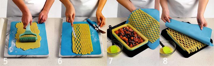 Как сделать решетку и собрать пирог - «Корзинка с ягодами» - классический пирог