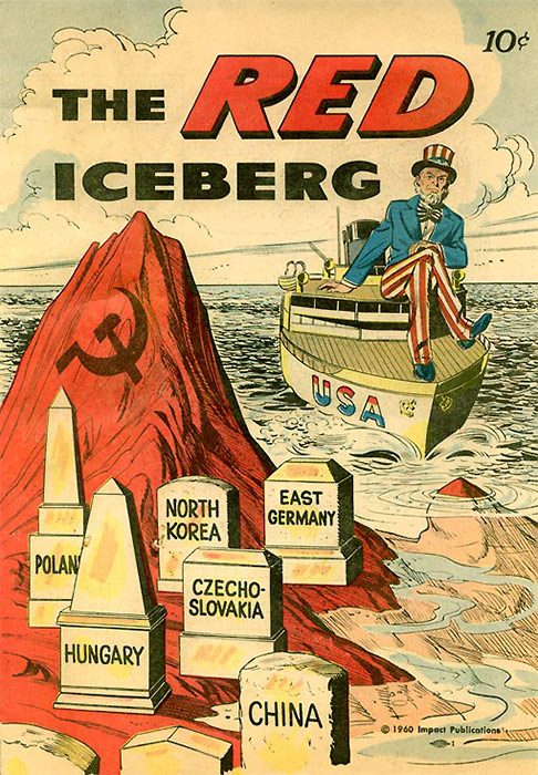 Красный айсберг угрожает потопить корабль, символизирующий США - Красный рассвет. Почему СССР не захватил всю Европу в 1946 году? - Форум сириус - Торез