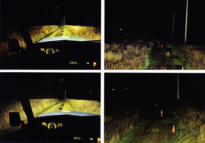 С водительского места кажется, что пара 12-ваттных направленных фар светит хуже, чем пара 10-ваттных рассеянных - Автомобильные светодиодные фары