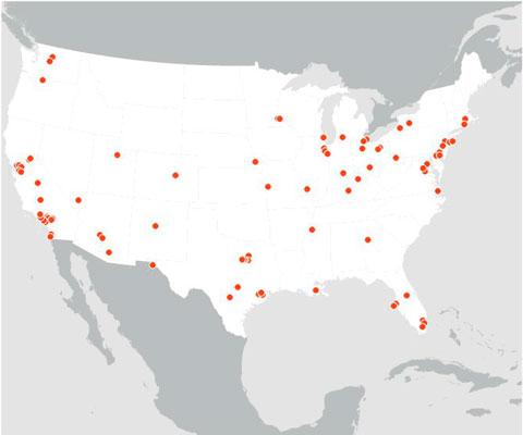 124 цели для ядерных зарядов, чтобы убить четверть населения США