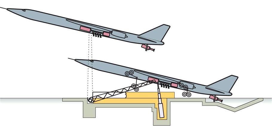 Точечный старт - самолет-снаряд