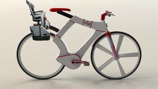 Современный городской велосипед