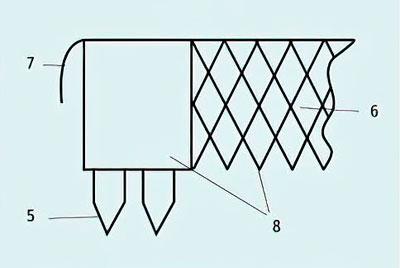 Фрагмент гвоздевой пластины - Улучшители для авто- и железных дорог