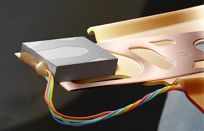 Часть микросхемы из компьютера - Обычные вещи крупным планом
