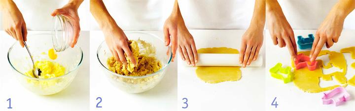 Как приготовить тесто и вырезать печенье - Печенье «Зверюшки»