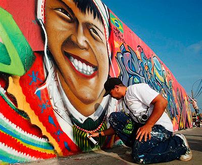 В Лиме (Перу) проходит один из самых известных фестивалей граффити - Шедевры городских улиц. Граффити - художники вне закона