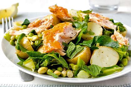 Теплый салат