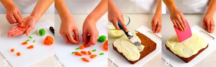 Как покрыть кремом и украсить торт - Морковный пирог
