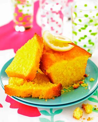 Лимонный фунтовый кекс