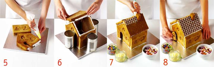 Сборка пряничного домика - Пряничный домик
