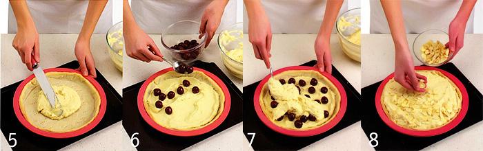 Сборка и выпекание пирога - Вишневый пирог «Бейквелл»