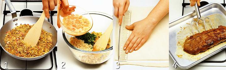 Как подготовить начинку, тесто и оленину - Оленина по-веллингтонски
