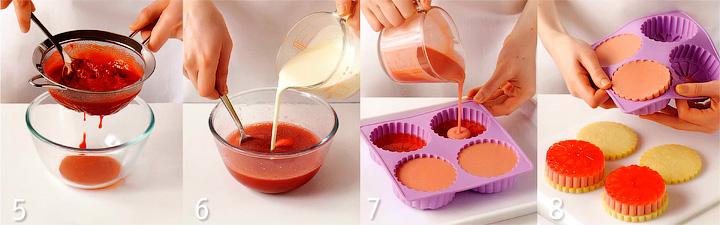 Приготовление сливочного желе и сборка десерта