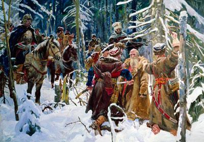 Как Иван Сусанин спас Царя и завёл Поляков
