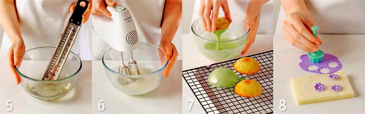 Приготовление помадки и оформление пирожных - Пирожные в глазури