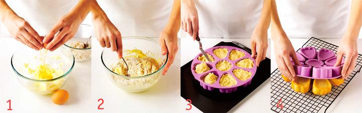 Готовим тесто и выпекаем кексы - Кекс - Тюльпан