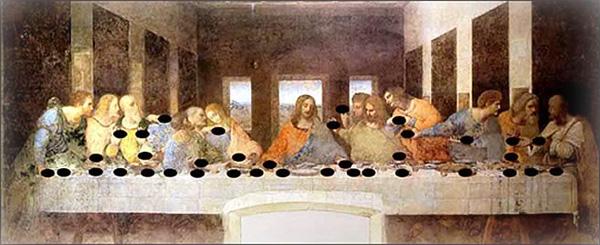 Леонардо да Винчи. «Тайная вечеря». Ноты от Джованни Мария Пала - Тайные коды известных картин