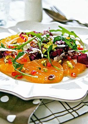 Фруктовый салат с зеленью - Правильное летнее меню